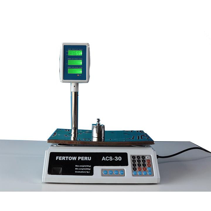 Balanza Digital Comercial Fertow Perú ACS-30 de 30 kg